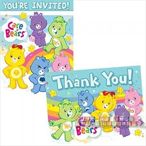 Care Bears Invitations and Thank You Notes w/ Envelopes (8ct ea.) Care Bear Invitations