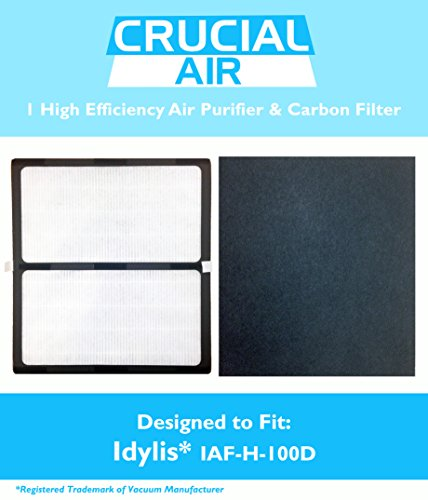 1 Idylis HEPA Air Purifier & 1 Carbon Filter, Fits Idylis Air Purifiers IAP-10-280; Model # IAF-H-100D