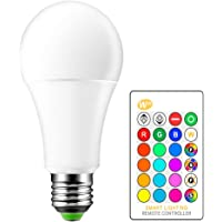 MOSINITTY 15W RGBW LED Bulb E27 Remote Control Decorative Light Atmosphere Lighting 16 Colors to Choose from, Used for…
