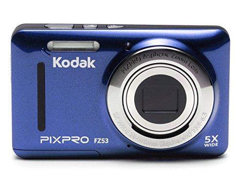 Kodak FZ53-BL Point and Shoot Digital Camera with 2.7″ LCD, Blue (Renewed)