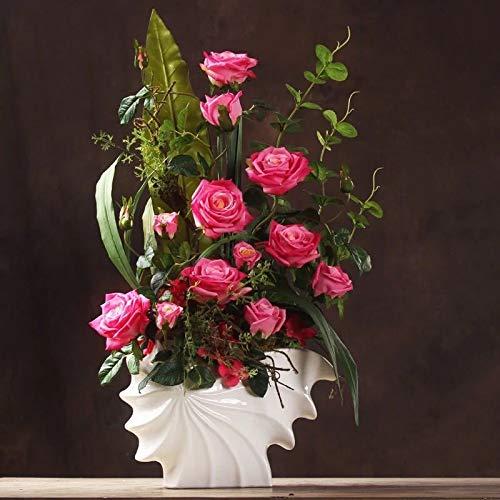 造花インテリア 雑貨 花束 インテリアフラワー お部屋の装飾 フラワーポット入り 造花ブーケ ホテルフロント 応接室.最適.とても豪華です B07QGNSV9K