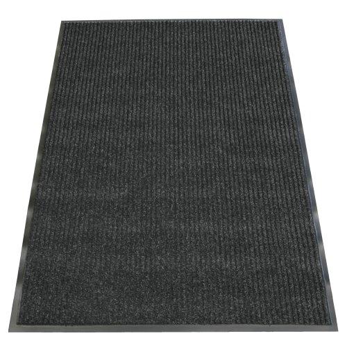Rubber-Cal Ribbed Polypropylene Carpet Mat - 3ft x 5ft - Cha Cha Charcoal Carpet Matting by Rubber-Cal