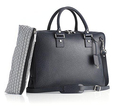 Mark Giusti Milano Essential Laptop Bag (Navy) ()