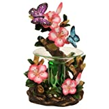 OBI Butterfly and Flowers Polyresin Electric Tart/Oil Warmer with Dimmer Switch