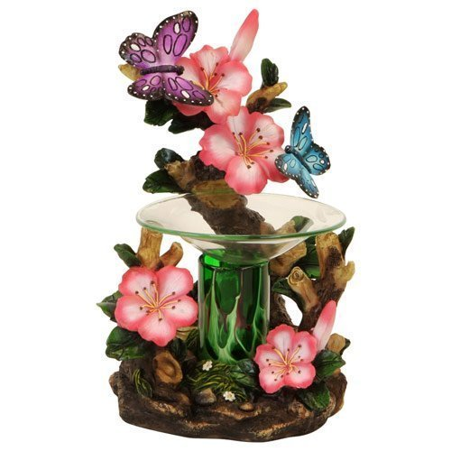 OBI Butterfly and Flowers Polyresin Electric Tart/Oil Warmer with Dimmer Switch by OBI (Image #3)