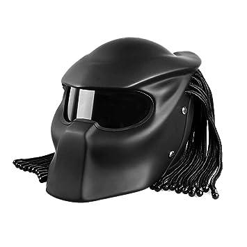 Fayoo Casco de Motociclista de Hierro Guerrero Cascos Moto Personalidad Scorpion máscara Casco Cross Country Casco