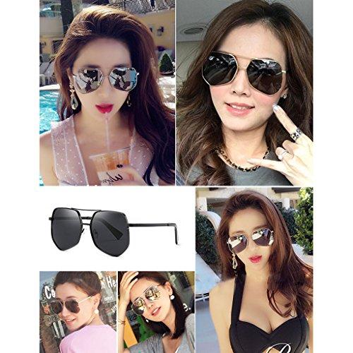 Coreanas Sol de Gafas Color Sol Mujer DT Delgadas Hombre 1 Gafas 3 de Gafas polarizadas EvqBHw