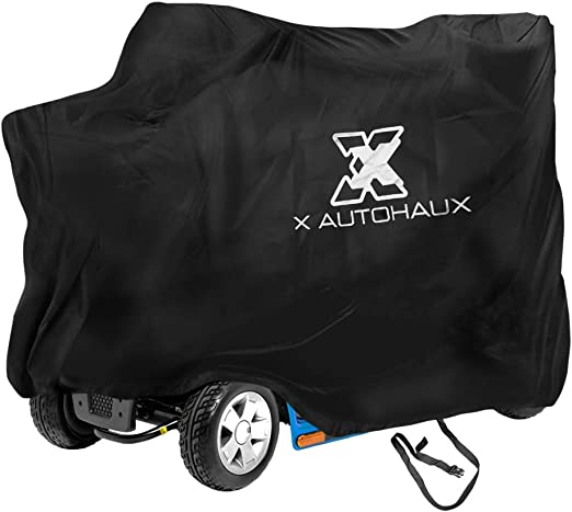 X AUTOHAUX Large Mobility Scooter Cover All Season for Electric Wheelchair 4 Wheel Travel Power Scooter Mobility Cover Waterproof
