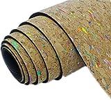 QUBABOBO Yoga Mat TPE + Natural Cork 6mm Non-Slip for Pilates, Exercise, Fitness