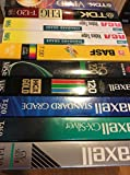 Mixed Lot of 10 New VHS Tapes T120 6HR - Factory Sealed / Shrink-Wrapped Standard Grade or Higher