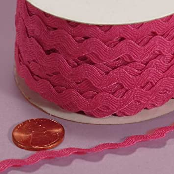 5mm X 22Yd Hot Pink Ric Rac Trim