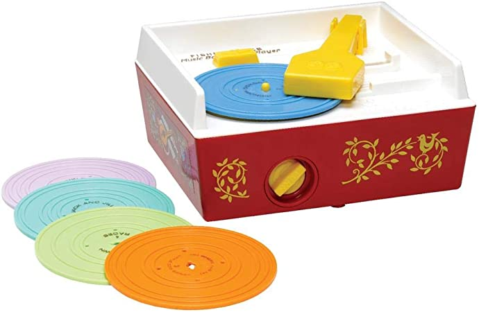 Basic Fun Fisher Price Classic Toys - Retro Music Box Record Player