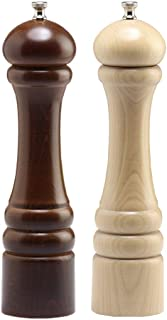 product image for Chef Specialties Imperial Pepper Salt Mill Set, 10 Inch, Walnut and Natural