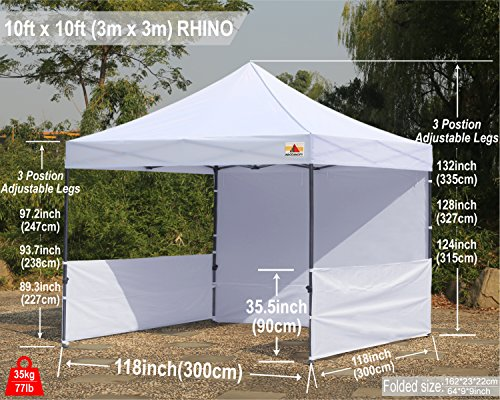 ABCCANOPY 10 x10 Pop Up Canopy Commercial Event Canopy Market Stall Canopy Booth Outdoor Trade Show Booth With Wheeled Carry Bags by abccanopy (Image #8)