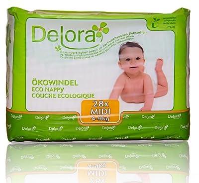 Delora Eco Diapers Midi, White, Small