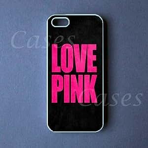 Iphone 5 Cover Love Pink Fashion Case, Cute Best Designer Customized Rubber C...