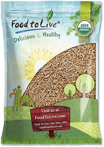 Organic KAMUT Khorasan Wheat Berries, 5 Pounds - 100% Whole Grain, Sproutable for Wheatgrass, Non-GMO, Kosher, Bulk