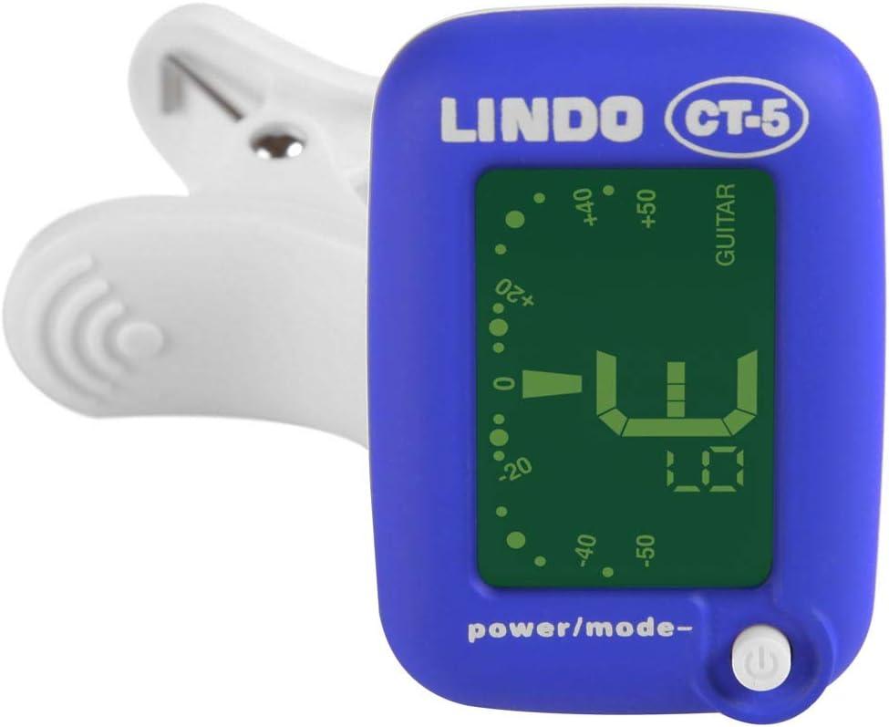 Lindo CT-5 - Mini afinador (con clip, guitarra y bajo eléctricos y ...