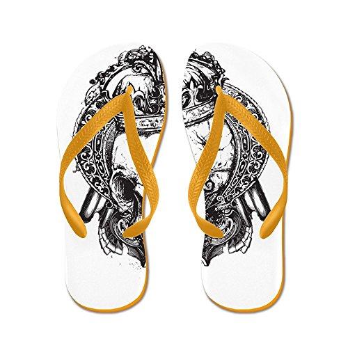 Royal Lion Kid's Dead King Skull Crown Orange Rubber Flip Flops Sandals 4.5-7]()