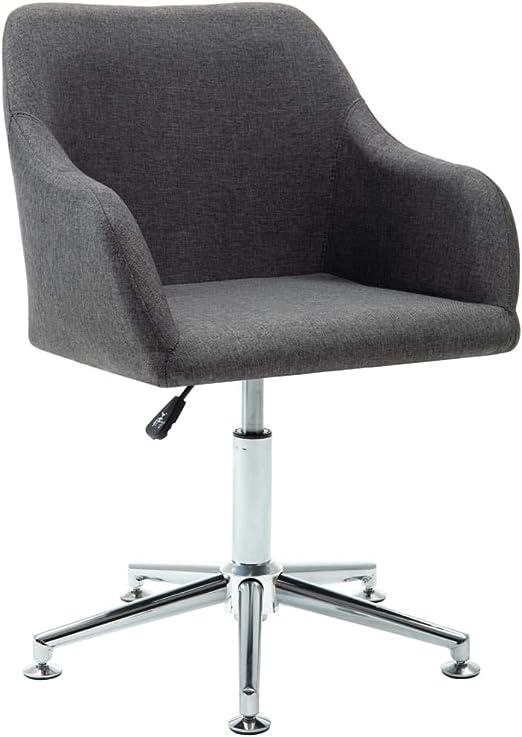 vidaXL 2x Bürostuhl Stoff Hellgrau Drehstuhl Schreibtischstuhl Computerstuhl