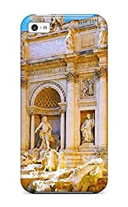 High Quality Shock Absorbing Case For Iphone 5c-fontana Di Trevi Rome Italy