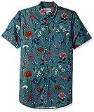 Goodthreads Men's Slim-Fit Short-Sleeve Printed Shirt, Wallpaper Floral, Large