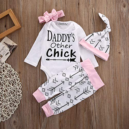 1ee803667 Emmababy Newborn Girls Clothes Baby Romper Outfit Pants Set Long Sleeve  Toddler Infant Summer Clothing