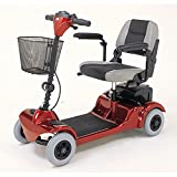 "Merits Health Products - Mini Coupe - 4-Wheel Super Micro Electric Scooter - 16.5""W x 15.5""D - Red"