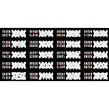 ABEST Ongles Airbrush réutilisables au pochoir 240 DESIGNS - modèle 20 feuilles Kit Set 3
