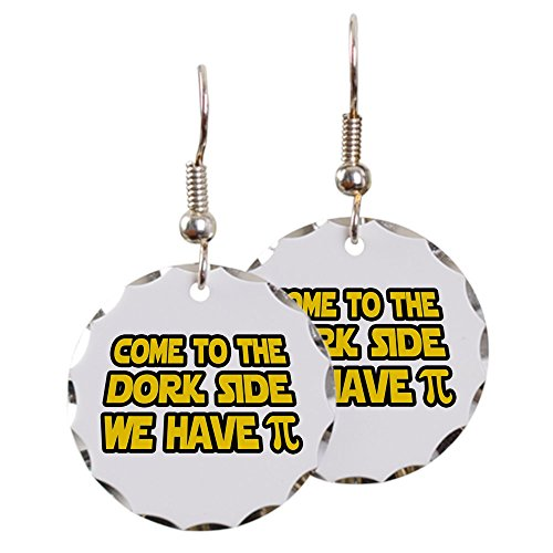 Earring Circle Charm Come To The Dork Side We Have Pi