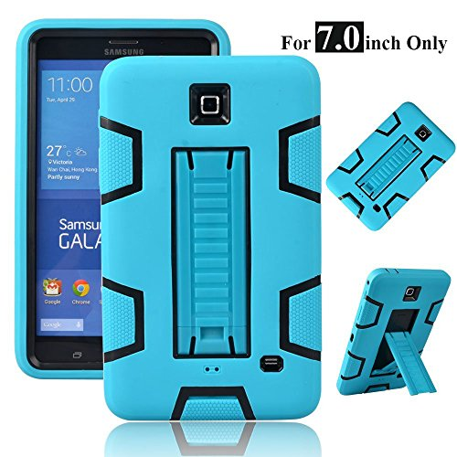 Galaxy Tab 4 7.0 Case, Magicsky 3in1 Heavy Duty Hybrid Shockproof Armor Kickstand Case for Samsung Galaxy Tab 4 7.0 inch T230 /T231/ T235 Galaxy Tab 4 Nook Cover - Black/Teal
