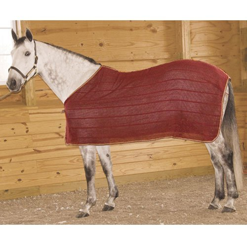 High Spirit Irish Knit Anti Sweat Sheet, Large, Burgundy