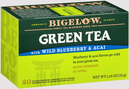 Green Tea with Wild Blueberry & Acai 20-count boxes (Pack of 6)