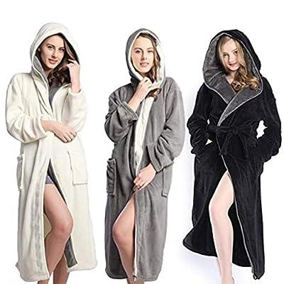 HULKAY Lady Upgrade Hooded Herringbone Womens Soft Spa Full Length Warm Light Bathrobe