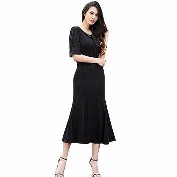 Mujeres Sexy vestido – honestyi® Lady vestido señoras oficina bloque color manga corta blusa moda