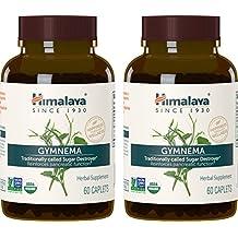 Himalaya Organic Gymnema Sylvestre 60 Caplets for Sugar Destroyer & Healthy Glucose Metabolism 700 mg, 2 Month Supply (2 PACK)
