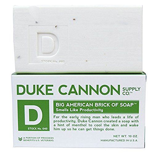 Duke Cannon Men's Bar Soap - 10oz. Big American Brick Of Soap - Smells Like Productivity - Early American Soap