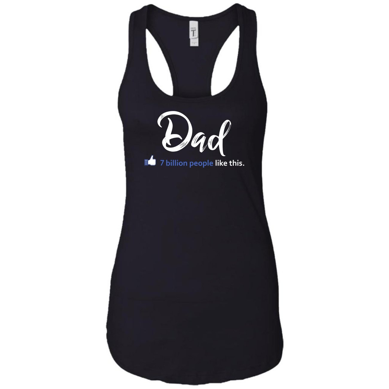 8562960c803ac Amazon.com  Pure s Designs Dad-Mens Father Day Birthday Gifts-Basic Plain  Gi Racerback Tank Tops for Women  Clothing
