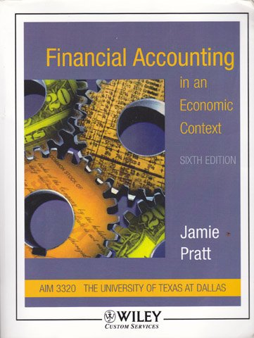 (WCS)Financial Accounting in an Economic Context 6th Edition for University of Texas at Dallas