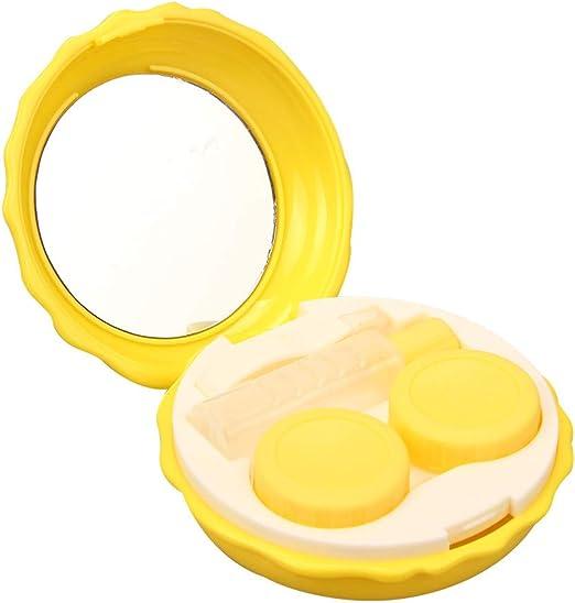 FiedFikt - Estuche para lentes de contacto de viaje, portátil, fácil de transportar amarillo: Amazon.es: Hogar