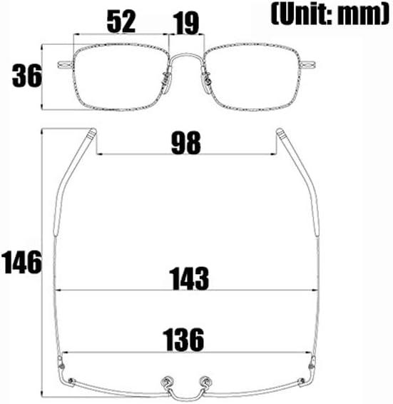 JJCFM Gafas De Lectura Anti-Azules, Gafas De Zoom Inteligentes Portátiles, Moda Lector Ultraligero, Montura De Titanio con Memoria Ultraligera, Lente Progresiva para Pc, Oro para Hombres,+2.00: Amazon.es: Hogar