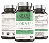 Best Aloe Vera Capsules - Organic Aloe Vera Supplement Equivalent to 20,000mg- RAW Review