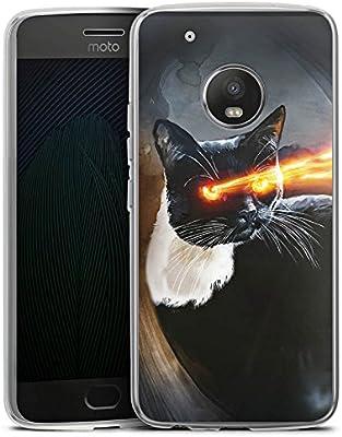 Motorola Moto C Carcasa Case Silicona gato cat Laser: Amazon.es ...