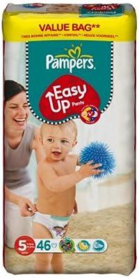 Pampers - Pañales easy ups talla 5 (junior) - pack de46: Amazon.es: Salud y cuidado personal