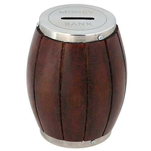 Wooden Money Bank – Barrel Coin Handmade Money Box for Kids and Adults Décor