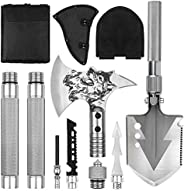 LIANTRAL Camping Shovel Axe Set, Folding Portable Multi Tool Survival Kits with Tactical Waist Pack, Camping A