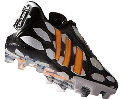 adidas, Scarpe da calcio uomo black-neon orange-running white Bianco - bianco