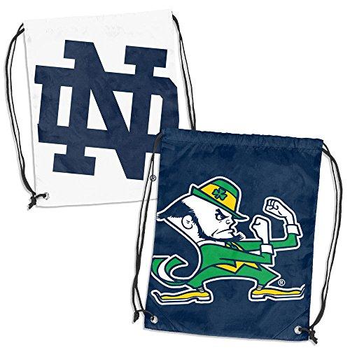 (Logo Brands NCAA Notre Dame Fighting Irish Double Header Back Sack, Navy/White)