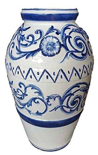 Complementi D Arredo In Ceramica.Giara In Maiolica Con Decoro Barocco Complemento D Arredo