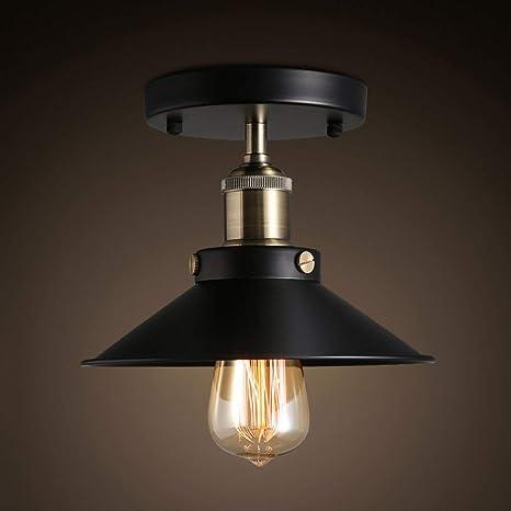 Lámparas de techo- Caso de hierro industrial americano retro ...
